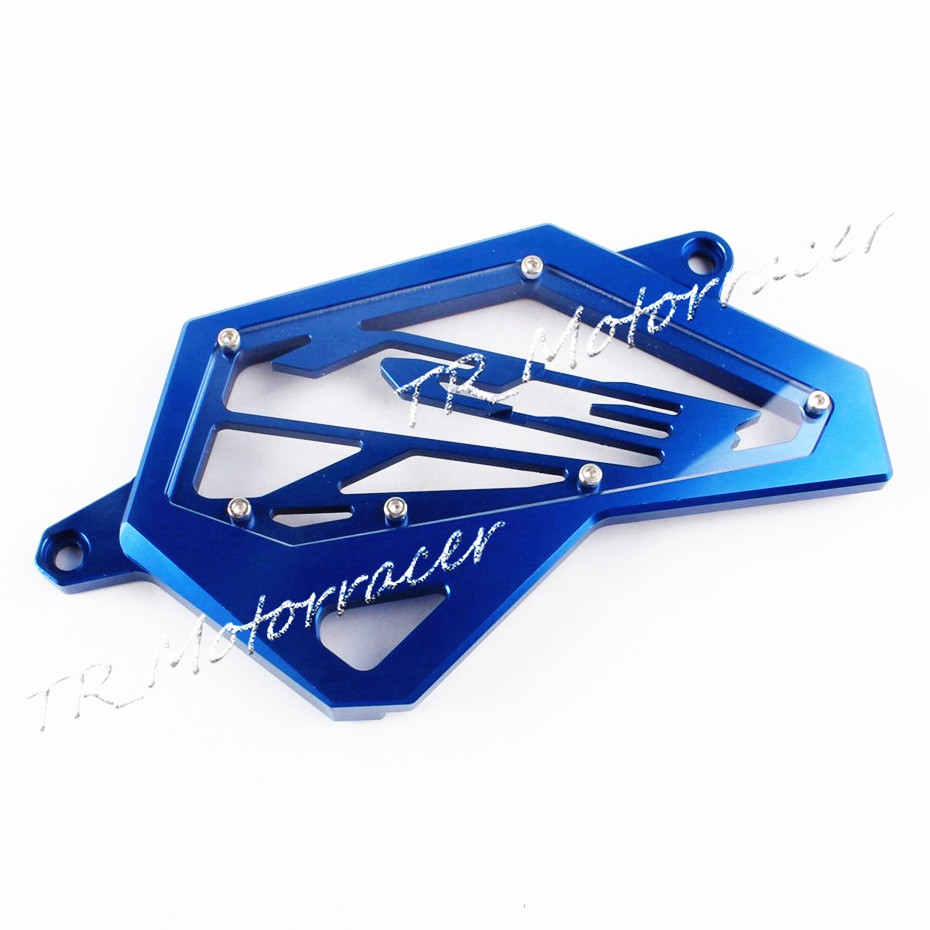 2014 2015 2016 For Yamaha YZF R3 R25 Chain Guard Cover Left Engine New Aluminum CNC Front Sprocket Cover YZF-R3  Blue купить