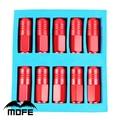 Mofe 20 unids/set aluminio 50mm tuercas racing wheel car tuercas p1.5 d1 red