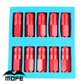 Mofe 20PCS/SET Aluminum 50mm Wheel Racing lug nuts Car D1 Lug Nuts P1.5 Red