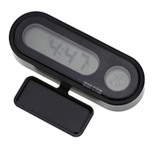 Auto Digital Clock Automobile Watch Automotive Car Thermometer Hygrometer Decoration Ornament Mini Clock In Car-Styling