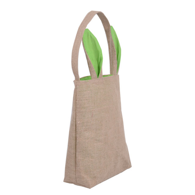 Online shop dhl 10pcslot easter gift bag jute burlap material dhl 10pcslot easter gift bag jute burlap material rabbit ear shape bags for kids gifts packing easter decoration supplies negle Images
