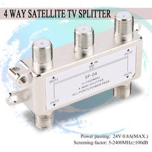 4 Way 4 Channel Satellite/Antenna/Cable TV Splitter Distributor 5-2400MHz F Type SP-04 Zinc Die-cast Housing(China)