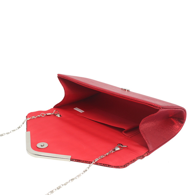 Fashion bag dinner bag fashion sequins Pu small bag ladies bag hand bag temperament party bag Luggage & Bags