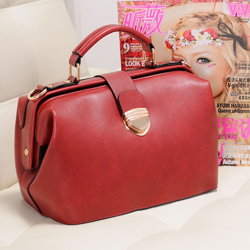 2016 Bolsas Feminina Casual Frauen Handtasche Messenger Taschen Arzt Tasche Mode Marke Schulter Frauen Feste Pu Leder Handtaschen