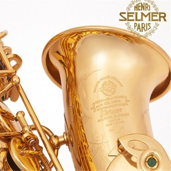 Engraved Selmer MARK VI Model Alto Saxophone E-flat Sax Electrophoresis Gold Professional Brass Instruments + hard case