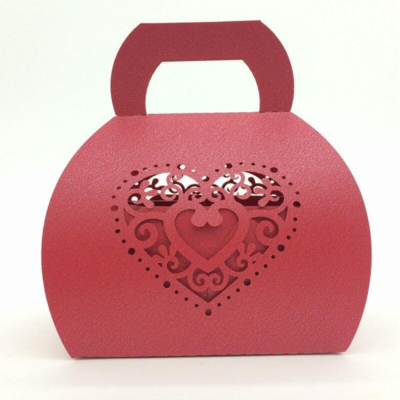 120PCS Love Heart Hawaiian Party Decorations Souvenirs Wedding Show for Guests Party Favor Gift Candy Box Ideas regalos de boda