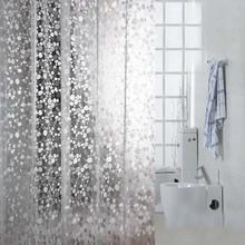 Duschvorhang wasserdicht transparenten duschvorhang verdickung ratchel muster anpassen ultra breite bad vorhang #17