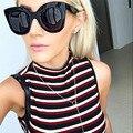 Boutique new mujeres clásicos remache diseñador de la marca marco grande gafas de sol vintage cat eye sunglasses shades h1761