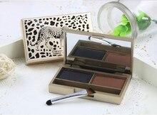 2 Color clever cat leopard brow powder & eye shadow makeup shine waterproof eyebrow 4g wholesale 6PCS / LOT