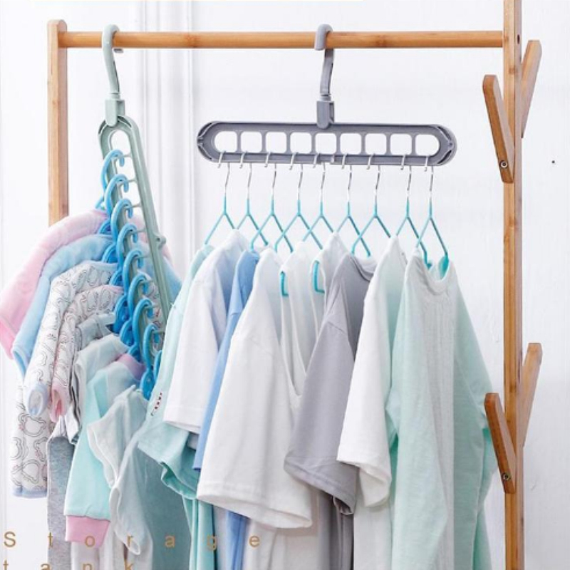 NEW Multi-port Support Circle Clothes Hanger Free Rotate Hangers Drying Rack Plastic Scarf Clothes Organizer Wardrobe Racks