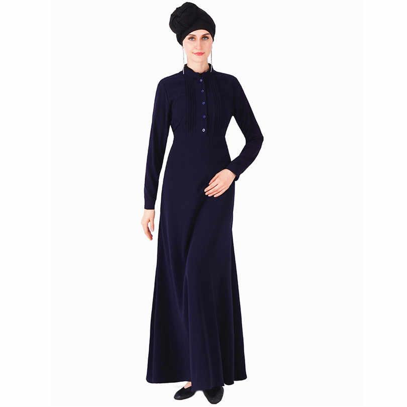 Abito Camicia delle donne Hijab Musulmano Abaya Kimono Tacchino Dubai Caftano Turco Islamico Abbigliamento Bangladesh Nero Grigio Rosso Blu Robe