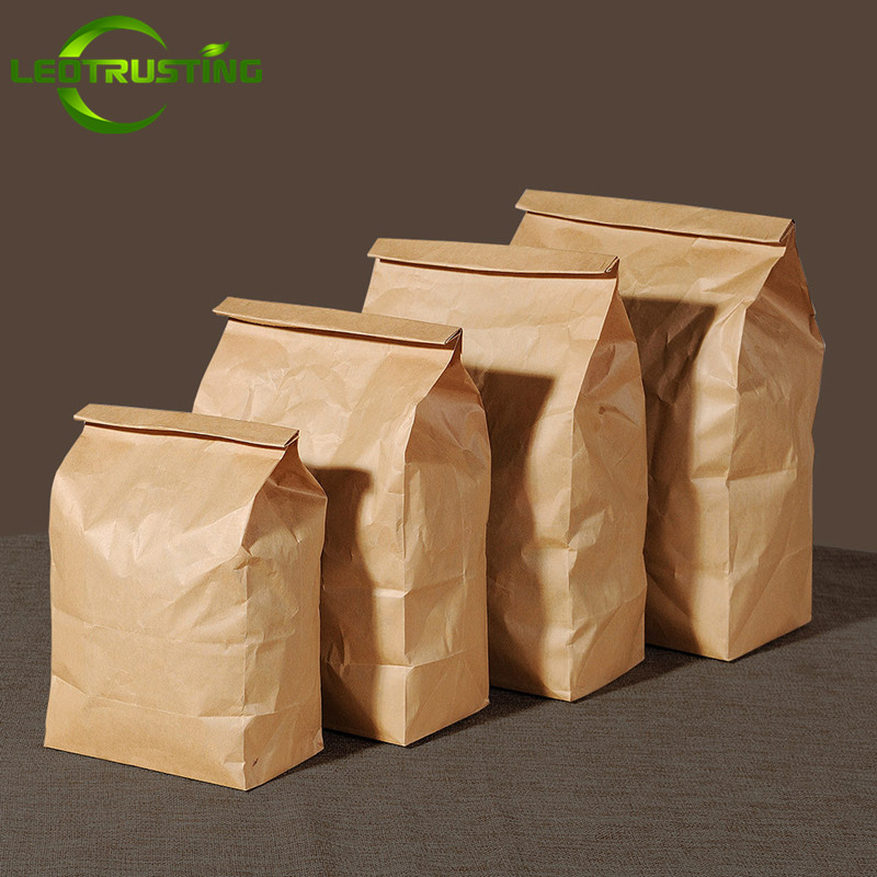Careful Leotrusting 50pcs 70g Kraft Paper Takeout Food Bags Small Gift Bags Sandwich Bread Baking Bags Party Hamburger French Fries Bag To Enjoy High Reputation In The International Market Home Storage & Organization