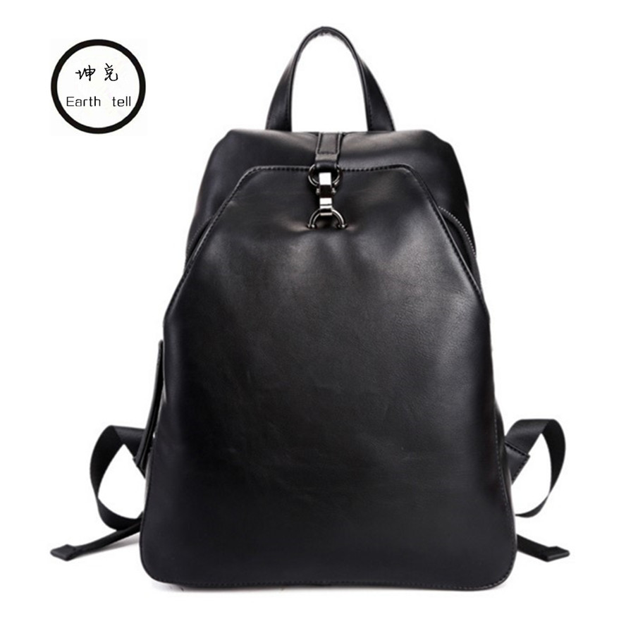 2017 PU Leather Laptop Backpack Men Women Bolsa Mochila Notebook Computer Rucksack School Bag Business Backpacks for Teenagers bagsmart new men laptop backpack bolsa mochila for 15 6 inch notebook computer rucksack school bag travel backpack for teenagers
