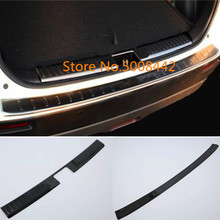 For Suzuki Vitara 2016 2017 2018 Car cover outside inside inner rear back bumper tailgate pedal strip trim plate lamp threshold car body styling stainless steel inner rear bumper trim plate lamp frame threshold pedal 1pcs for suba6u outback 2015 2016