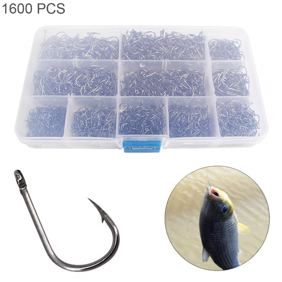 100Pcs Carp Fly Fishing Bait Sharpened Hook Fishhook Tackle Jig Bait Holder
