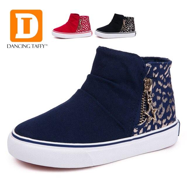 Sneakers casual blu con cerniera per bambini kudJSt47T