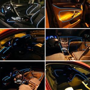 Image 5 - Auto Omgevingslicht Led Voet Lamp Auto Sfeer Verlichting Led Strip Rgb Kleur Meerdere Modi Automotive Interieur Decoratieve Verlichting
