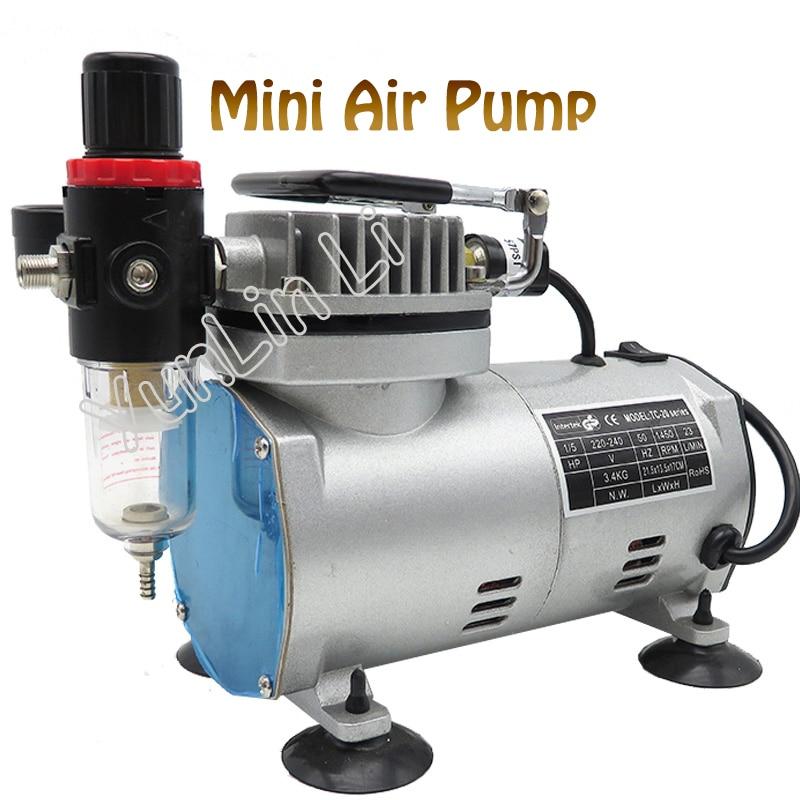 220V 23-25 L/min 1/5Hp Small Electric Piston Vacuum Pump Airbrush Compressor MS18-2 vacuum pump inlet filters f006 1 rc2 1 2