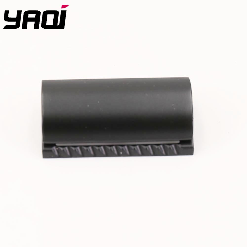 Yaqi Matte Black Color Scalloped Bar Double Edge Safety Razor Head