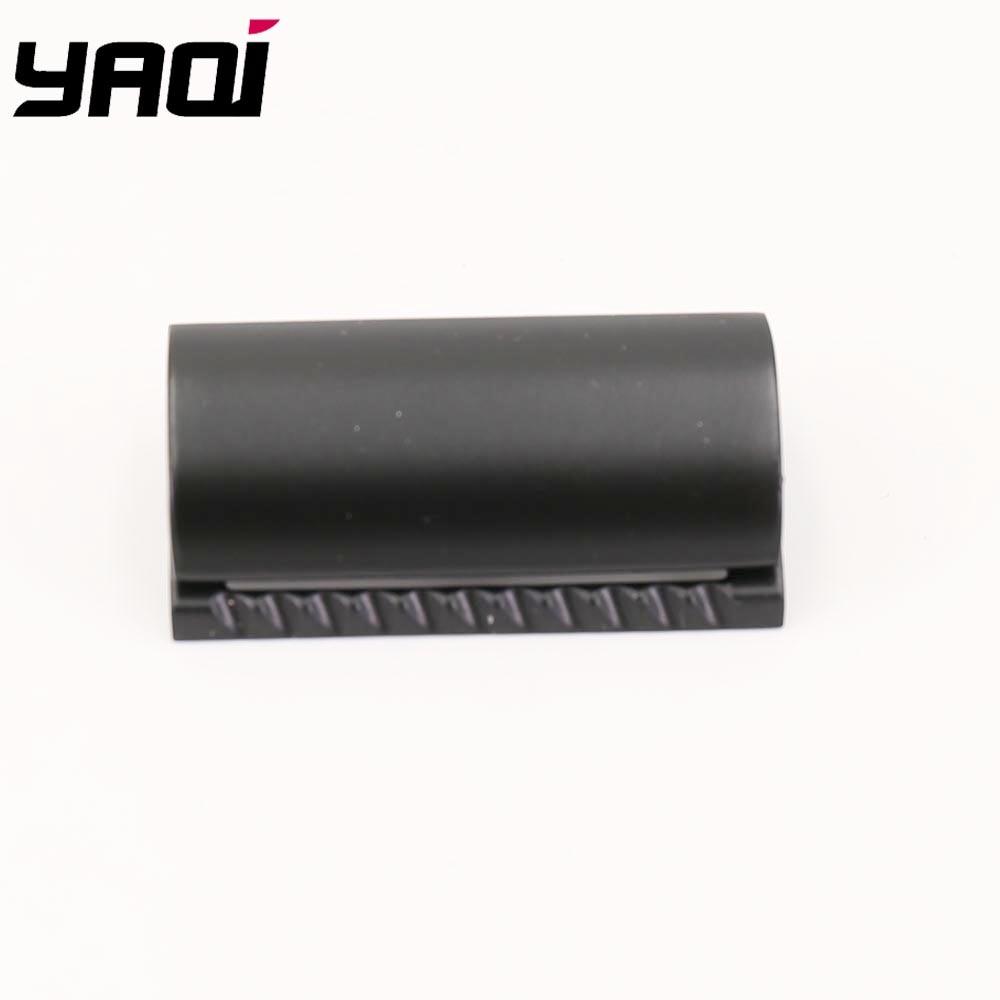 Yaqi Matte Black Color Scalloped Bar Double Edge Safety Razor Head