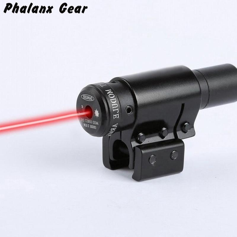 Hunting compact Mini Adjustable Visible Tactical Red Dot Laser Sight Scope for paintball 11mm 21mm Rail Military Gear equipment
