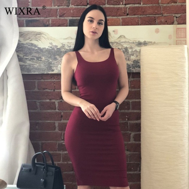 Bodycon Midi Tank Dress
