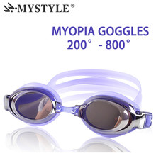 Optical Diopter Swimming Eyewear Glasses Myopia Goggles Swim Silicone Anti-fog Coated Water Adult Prescription