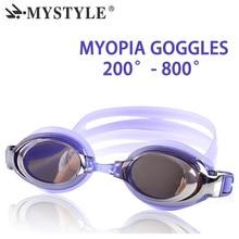 Optical Diopter Swimming Eyewear Glasses Myopia Goggles Swim Silicone Anti-fog Coated Water Adult Prescription