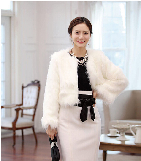 2014 fashion charm waistcoat cape imitation rabbit fur coat fox ...