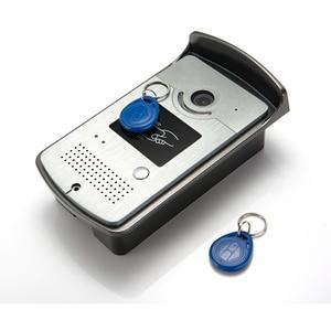"Image 2 - 7 ""צבע מסך וידאו דלת טלפון אינטרקום מערכת RFID כרטיס מצלמה Strike מנעול חשמלי + ספק כוח + דלת יציאה וידאו פעמון"