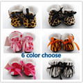 Autumn and winter thicker section booties / toddler shoes / baby shoes / home shoes small leopard print exposure