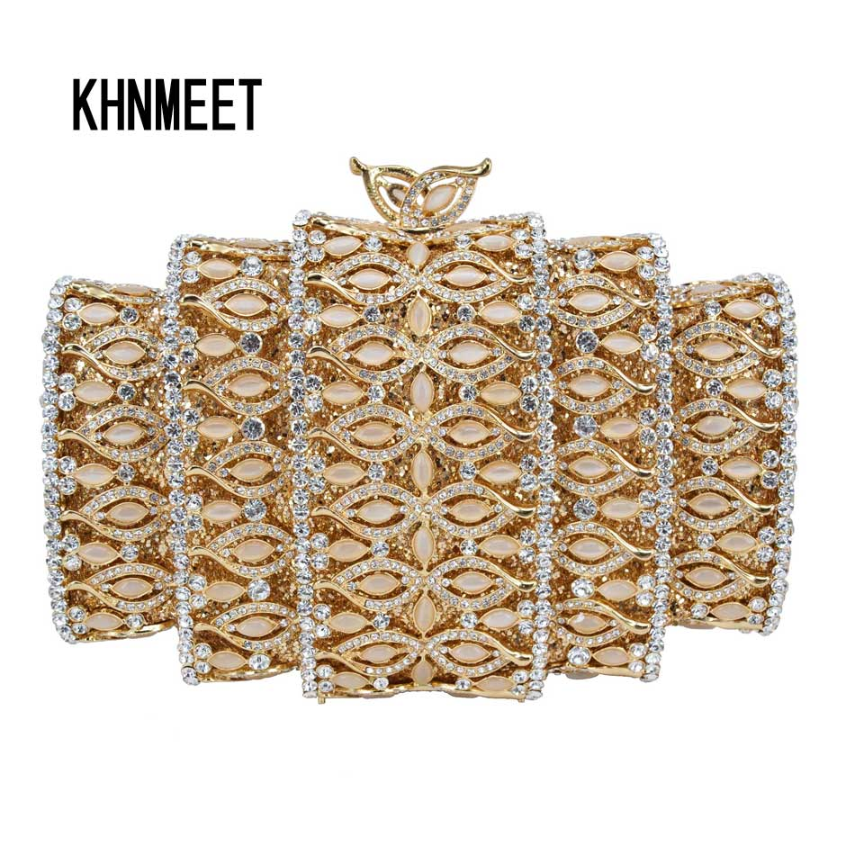 New arrive Bigger Crystal Bag Luxury Diamond With Chain Party Wedding Bolsa Shoulder Handbags Purse Day