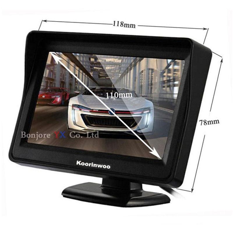 Koorinwoo Parking Assist 2.4G Wireless 4.3 Inch TFT LCD Mirror - Ավտոմեքենայի ներքին պարագաներ - Լուսանկար 6