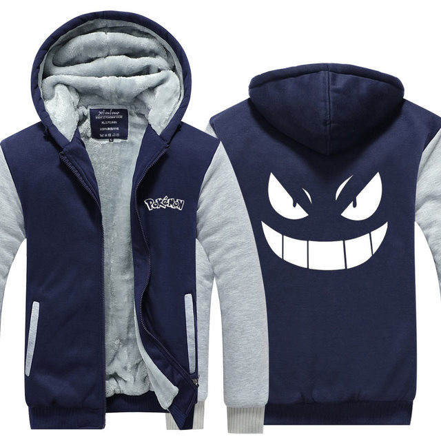 Gengar Pokemon Sweatshirts Zipper