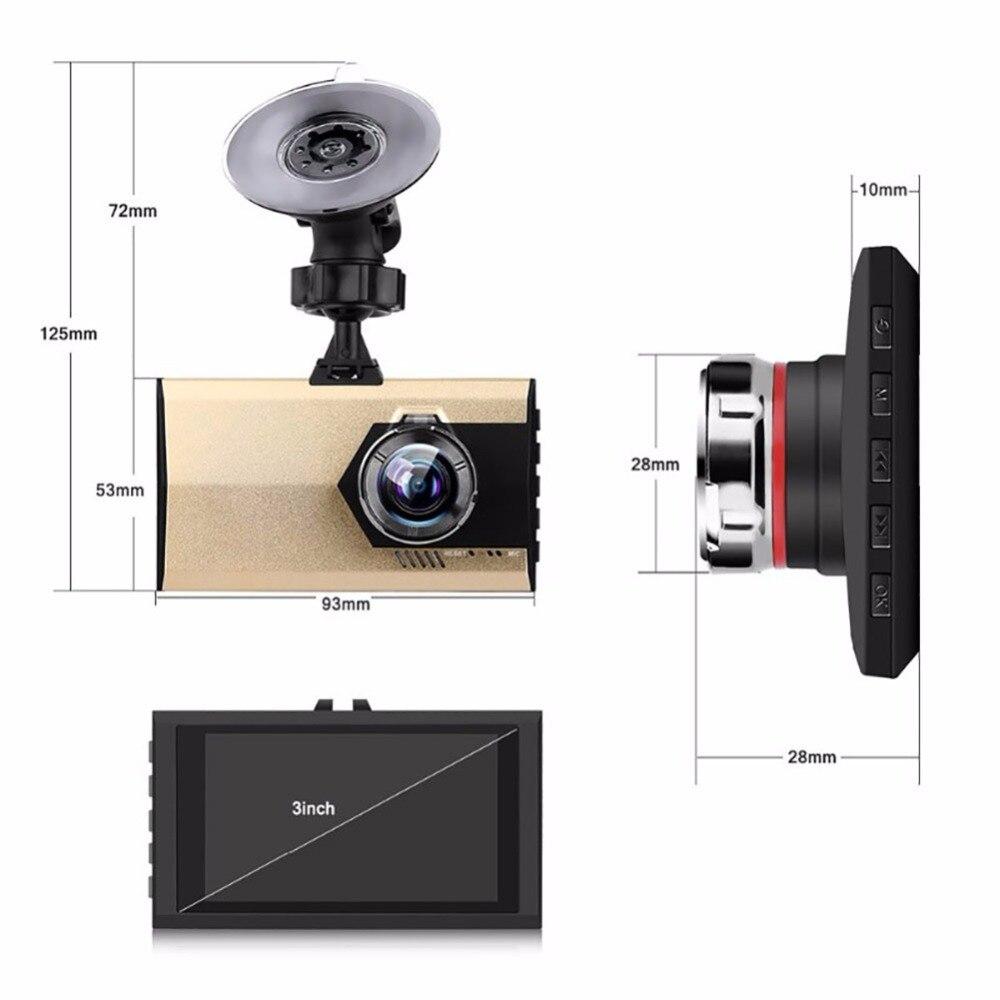 3.0  Full HD Night Vision 1080P Ultra-thin Car Camera Built-in Video Camera 500 Mega Pixel DVR Camcorder Microphone Dash Cam