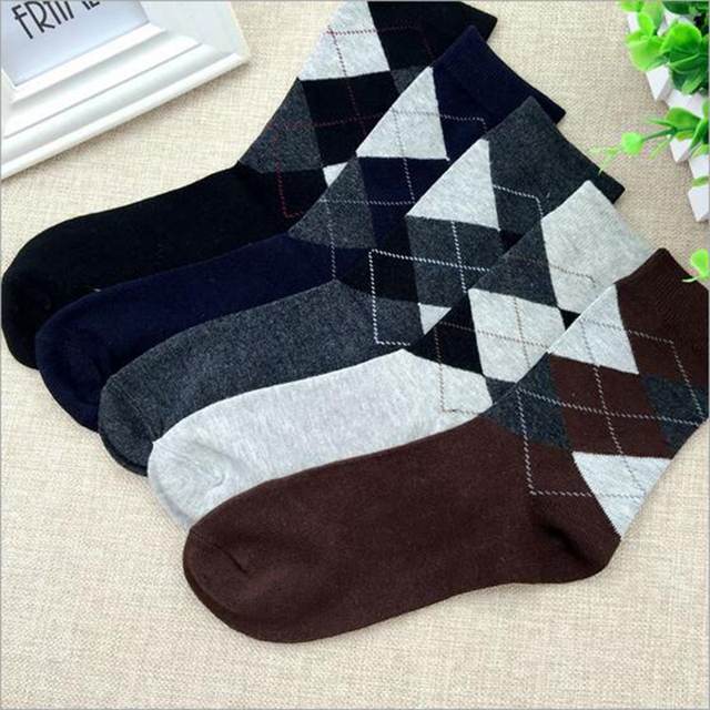Gentleman necessity! classic dress men socks high quality cotton ...