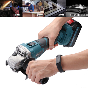 Image 3 - Protable Electric Angle Grinder Cordless Power Cutting Tool + 128tv/29800 lithium battery Rechargeable Power Tool Grinder