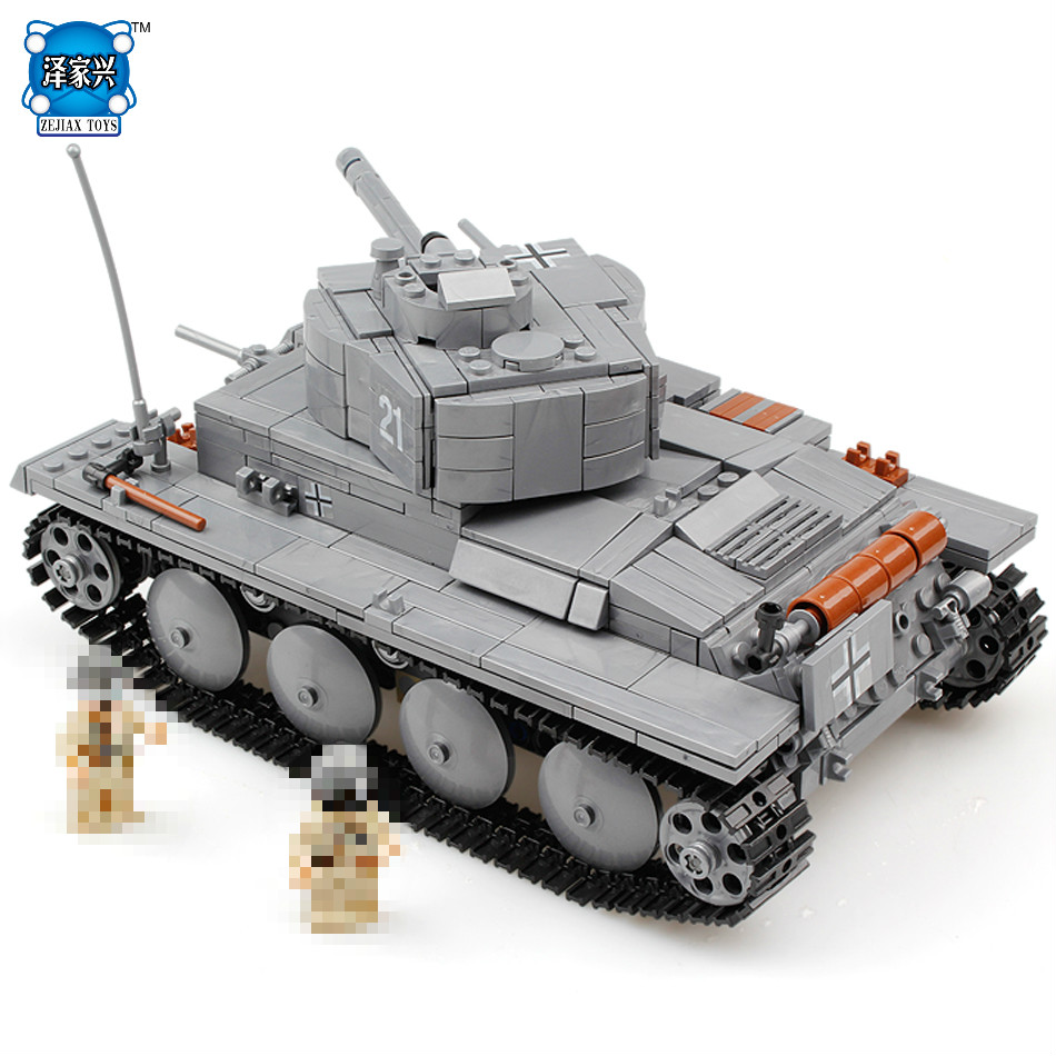 Hot Military War Tank 3D Model PZKPFW-II Building Blocks Sets Compatible Lepins Tank DIY Educational Christmas Toy for Children military star wars spaceship aircraft carrier helicopter tank war diy building blocks sets educational kids toys gifts legolieds