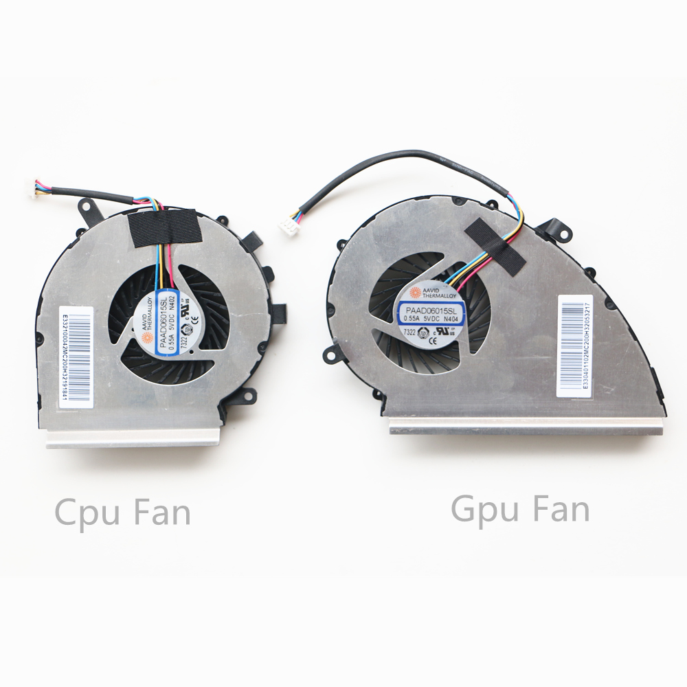 New CPU GPU Cooling Fan For MSI GE72VR GP72VR 6RF 7RF GP72MVR GL72VR FAN COOLER PAAD06015SL DC 5V gl72m gf72vr ms 1799-in Fans & Cooling from Computer & Office