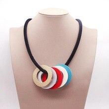 2019 Fashion Trendy Geometric Pendant Leather Chain Necklaces & Pendants Statement Necklace for Women Jewelry 2019 fashion trendy geometric pendant leather chain necklaces