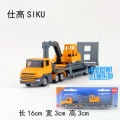 Candice guo alloy car model 1:64 engineering transport vehicle truck trailer digging plastic motor collection gift children toy