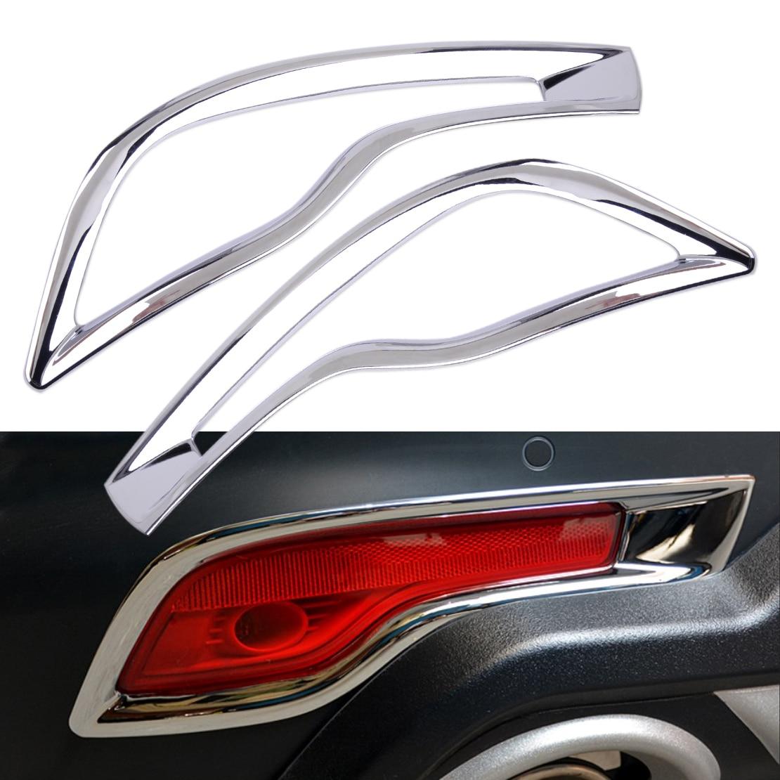 2x Chrome Rear Tail Fog Light Frame Cover Trim For Mercedes-Benz E Class 2017
