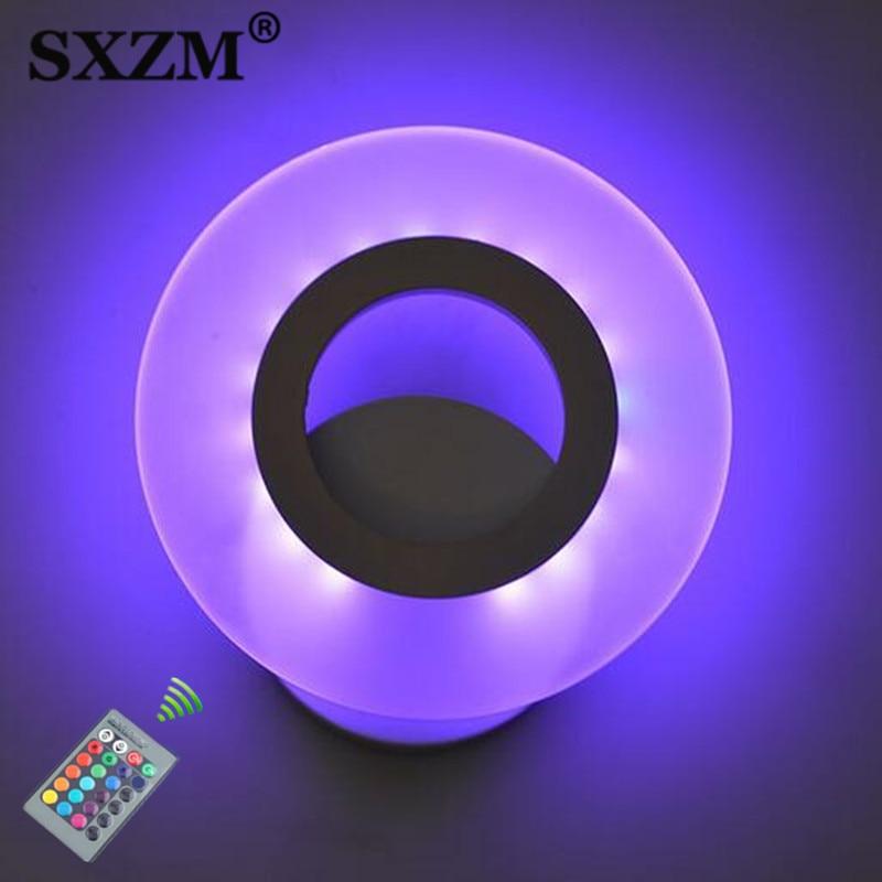 10 W Wandkandelaar Wandlamp Rgb 16 Kleurrijke Met Afstandsbediening Controler/warm Wit/wit Led Wandlamp Indoor Verlichting Lamp