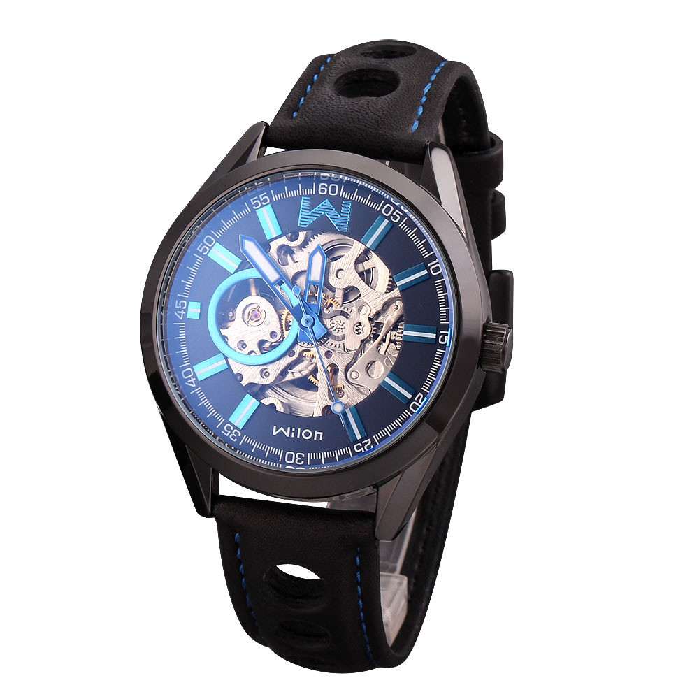 2016  Fashion HK Brand Top Quality Luxury Automatic Business Male Skeleton Mechanical Wrist Watches relojes hombre marca famosa 2016 wilon fashion brand top quality luxury automatic watch male skeleton mechanical watch relojes hombre marca famosa