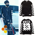 Autumn exo tao pyrex off white letter long-sleeve basic t-shirt clothes