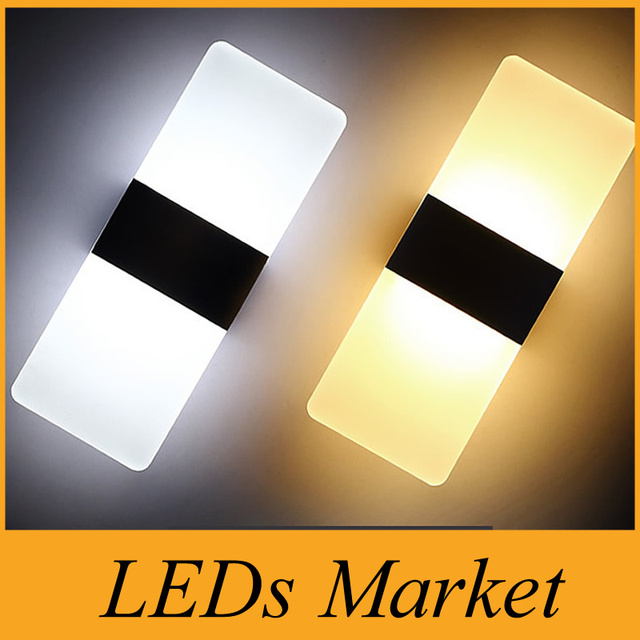 Modern LED Wall Lamps Sconces Aluminum Reading Lights Fixture ...