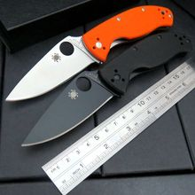 New C122 Folding Blade Knives 8CR13MOV Blade G10 Handle Tactical Hunting Camping Survival Pocket Knife OEM Outdoor EDC Tools