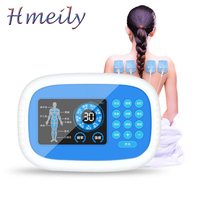 Multi function HD display charging double output massager acupuncture massage apparatus home physiotherapy instrument Slimming