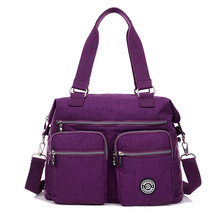 New Fashion girls purse nylon shoulder baggage 10 colours girls messenger baggage Solid purses Large capability Women Crossbody Bags