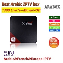 Arabic IPTV Box Free watch 1300 Arabic BN SK Somali Europe channels Qnet/MarsTV Arabic TV box(China)